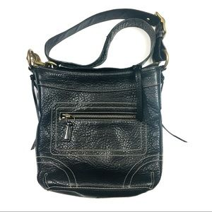 Coach Black Leather Duffle Crossbody